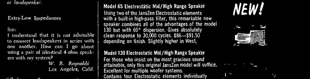 element of JansZen Electrostatic Speakers contains 176 push -pull sheathed conductors.