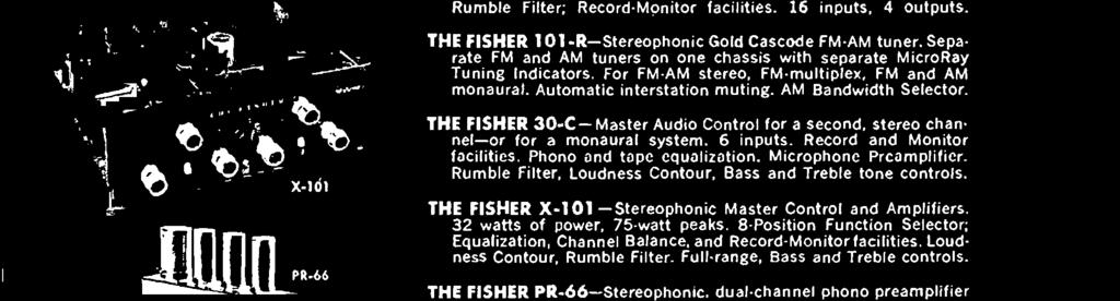 THE FISHER X -101 - Stereophonic Master Control and