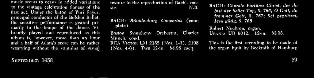 major orchestras. Munch has evidently reduced his strings considerably, and the result is a clean, chamber-orchestra quality that renders everything transparent.