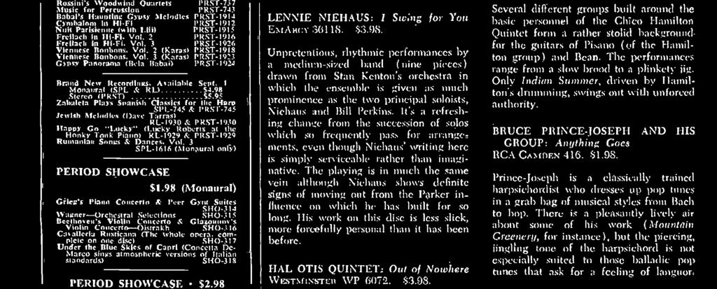 trumpet show piece. LENNIE NIEHAUS: i Ste»Ieg /or You E?IAR(:1-3(t118. $3.98.