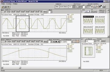 PC Utility Software for DL Series Waveform Viewer for DL series Waveform Viewer for DL series is a software program that allows a PC to display waveform files (with wvf extension) from measurements
