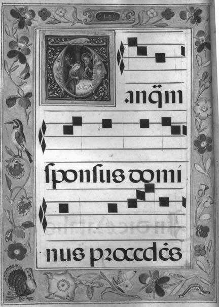SPANISH LITURGICAL MUSIC MANUSCRIPTS AT SYDNEY 211 ILLUSTRATION 4 Fisher RB Add, Ms. 358. Processional. 160 x 230 mm. 33 unnumbered leaves. First opening.