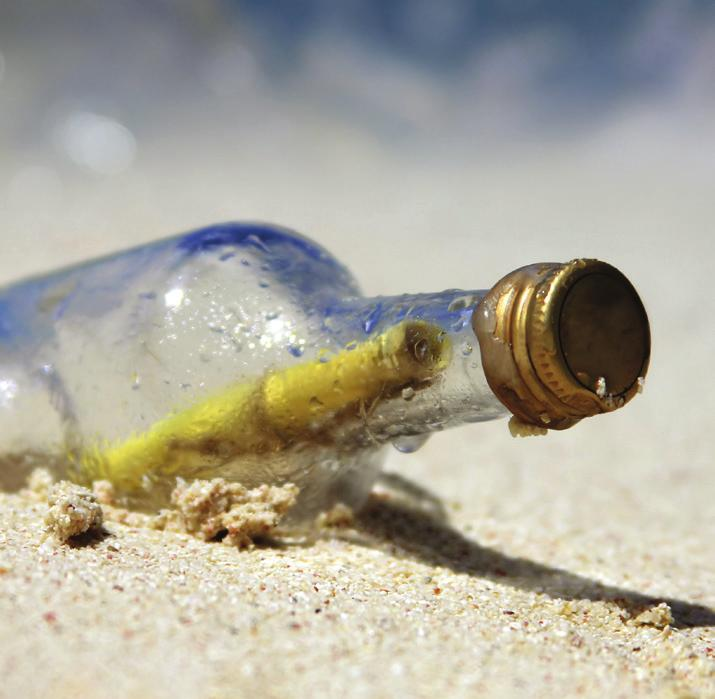Message in a Bottle Encourage an imaginative act of kindness by making Messages in a Bottle. Collect empty bottles (wash well!) and have family members write kind notes to friends and neighbors.
