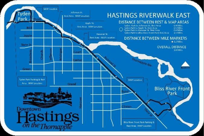 Hastings prime natural resource the Thornapple River Thornapple Plaza adds a third set of