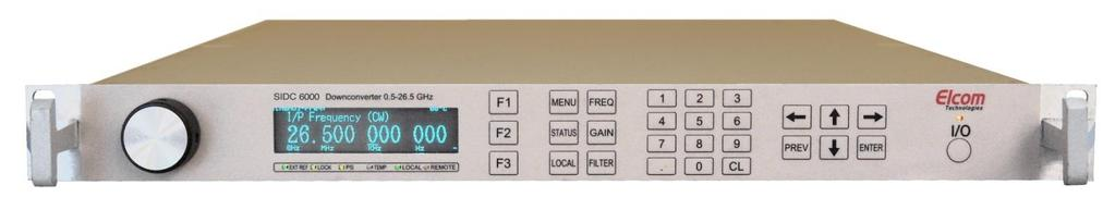 SIDC-6005 MICROWAVE WIDEBAND DOWNCONVERTER / TUNER UP TO 18 GHz WIDE FREQUENCY RANGE: 0.