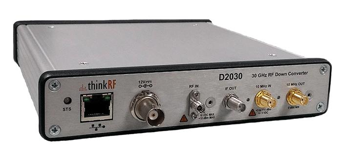 Product Brochure and Technical Datasheet ThinkRF D2030 27-30 GHz RF Downconverter Extend your existing 3G/4G test