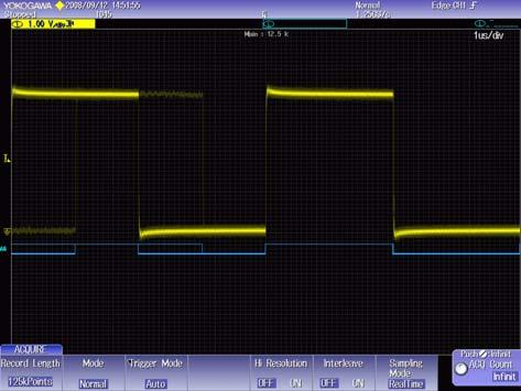 or to observe timing between digital control signals and internal analog signals in an automobile ECU.