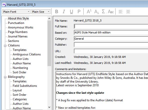 au/help/referencing/endnote/download-referencing-styles Download the required Referencing Style file.