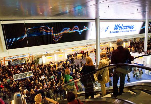 The Video Wall is well-suited for: Exhibitor/Sponsor advertising Welcome messages Speaker information Show hours Showcasing sponsors & exhibitors Featured events Announcements Digital Signage Network