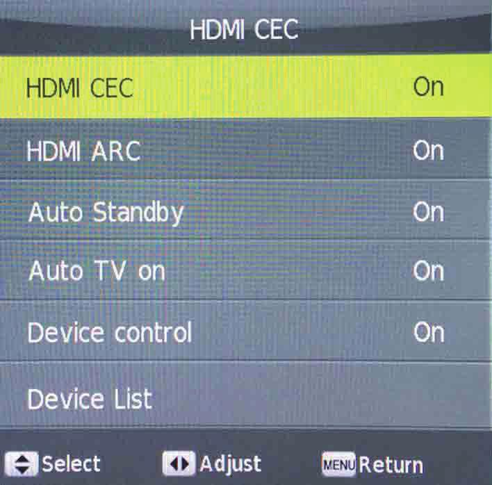 HDMI CEC HDMI CEC allows devices connected to the TV via HDMI to communicate back and forth with the TV.