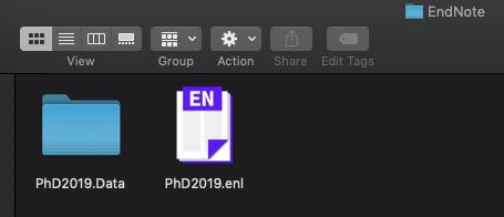 Creating an EndNote Library: The Library File (.enl) and the Data Folder (.