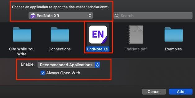 In that case, you will train your mac to always open.enw files using EndNote.