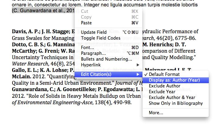 EndNote X9 Basics for Mac 19 7. EndNote compares the identifying text to your EndNote references and then lists the matching references.