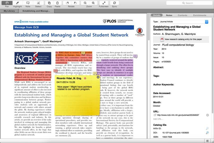 Private Groups Collaborate with Your Research Team Share full-text documents with members of your