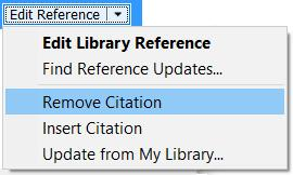 Alternatively, right click on a citation and select Edit Citation(s).