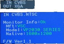 8. OSD INput format / OUTput Resolution Firmware Information PC Monitor Information 1.