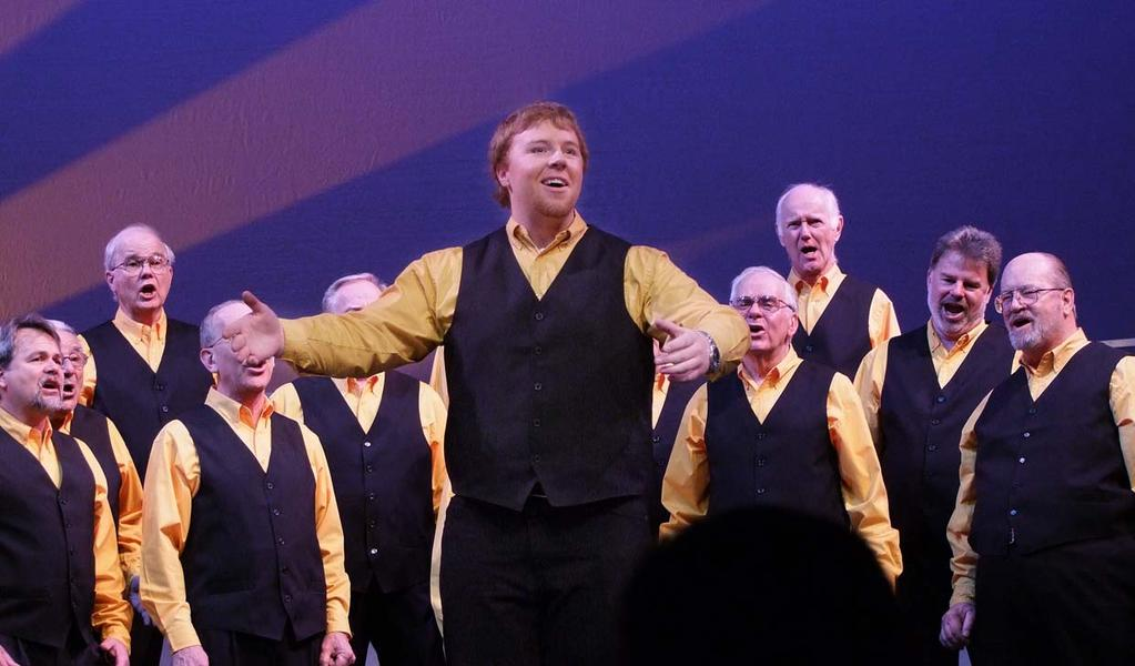 Jason Dyer fell in love with barbershop harmony thanks to the Placerville chapter s Youth in Harmony efforts.