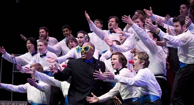 Call them the overachievers of the festival; their ranks are largely made up of high school students and younger college music fraternity members with limited choral and barbershop experience.