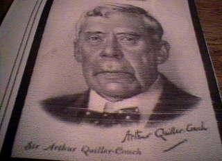 "I used Willie's Cigarette Card to verify the ""signature"" of Arthur Quiller-Couch. It appears that Quiller-Couch ""printed"" his signature."