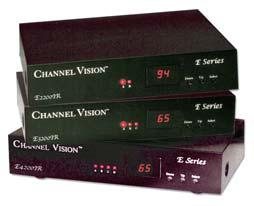 Channel Vision s 2, 3 and 4 input RF Modulators, allow an idle television channel to be transformed to an internal channel on which the output of