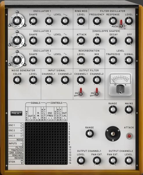 6 XILS 3 modules description The XILS 3 contains two cabinets: one is dedicated to the synthesis part, which brings the controls to set oscillators, filters, envelopes and so on; the other used to