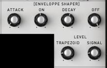 Level: this knob modifies the output level of each waveform. This can be useful for blending the mix of the waveforms and setting the amount of modulation created between them.
