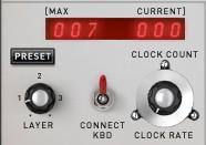Preset: This button opens a menu that shows you the available sequencer presets for recall: The menu also allows you to save or delete sequencer presets, or even create new