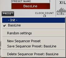 Reset: Resets the sequencer clock to the first step or the last step of a sequence, depending on the direction of the clock (see below).