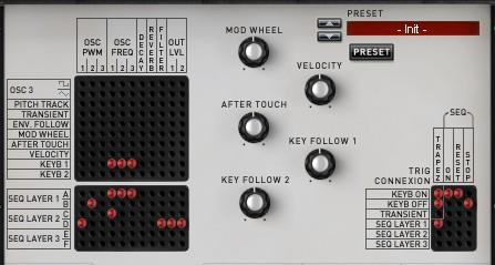 The get more modulation possibilities, the XILS 3 has three additional matrices on the advanced matrix settings panel: one on the right hand side, for routing the trig signal; another towards the top