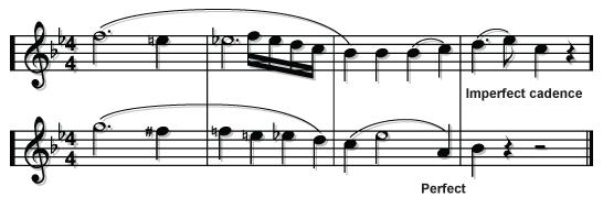What texture is the final few bars of the coda? When was this written? What is a sequence? From which period is this music? Give four features from that period?