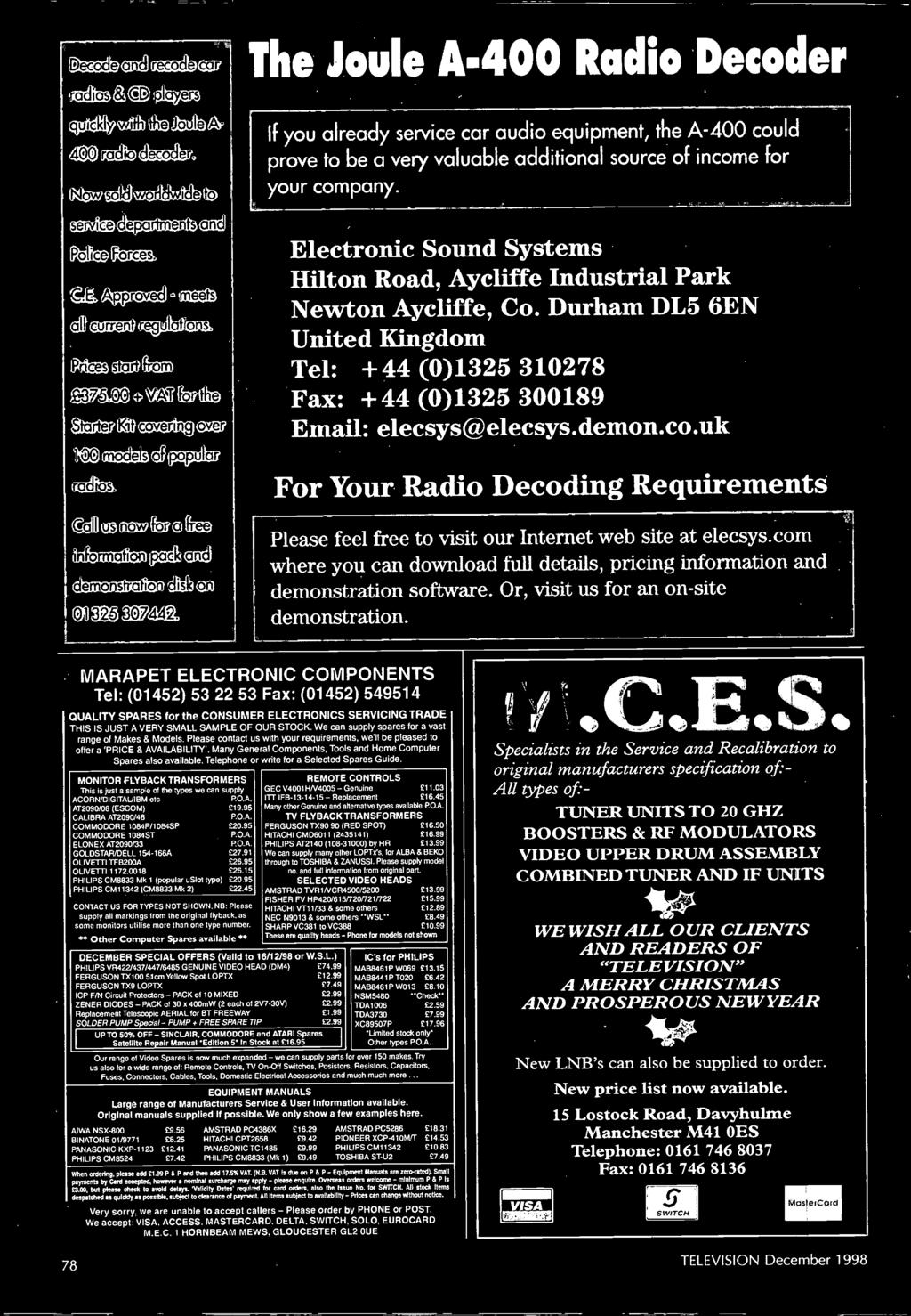 The Leading Uk Consumer Electronics Technology Magazine 111eleip S Hobby Circuits Cricket Voice With Buzzer Using Lm324 Marapet Electronic Components Tel 01452 53 22 Fax