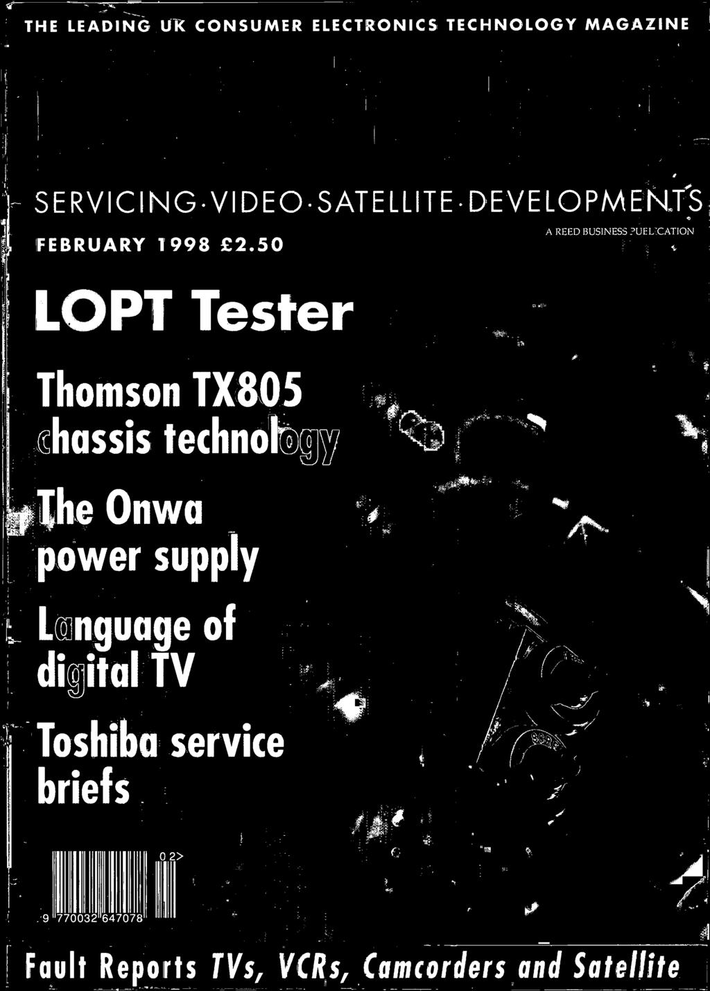 Teleii Lopt Tester Power Supply Digital Tv Briefs Thomson Tx805 Low Voltage Amplifier Circuit With Ic Ba518 Schematic Diagram Onwa A Reed Business