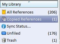 Organizing your library Organize in groups It is recommended that you only have one single library with all your references.