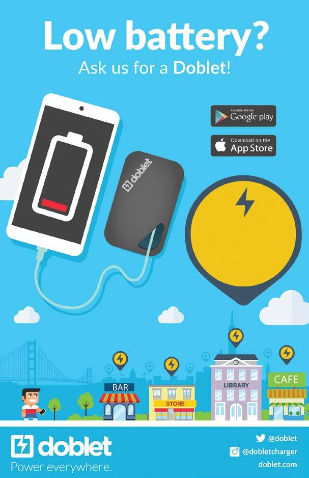 1:30 pm 1:50 pm BluuBeam 2:00 pm 2:20 pm edme Apps MOBILE APP PAVILION Need a charge? Low on power? A Doblet charger will get you going.