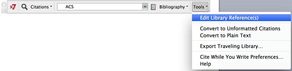 D. Edit Library References You cannot correct errors in the bibliography directly in Word.