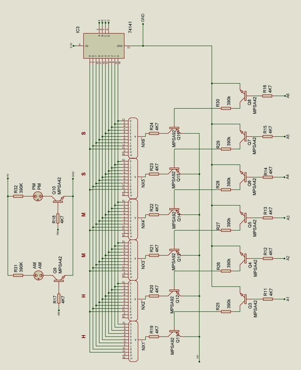 C3 Rs 915 Lcd Wiring Diagram Free Download Kib Panel Nixie Clock Type Sixnix Pdf Monitor At