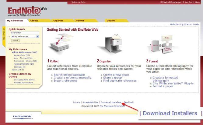 Install Toolbars Click the Download Installers link at the bottom of the page.