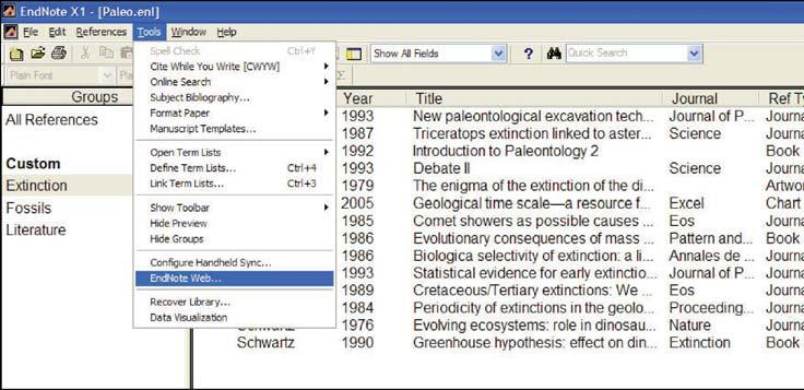 Transfer References to / from EndNote desktop You can seamlessly transfer references to or from EndNote desktop libraries using EndNote X.0. or later.