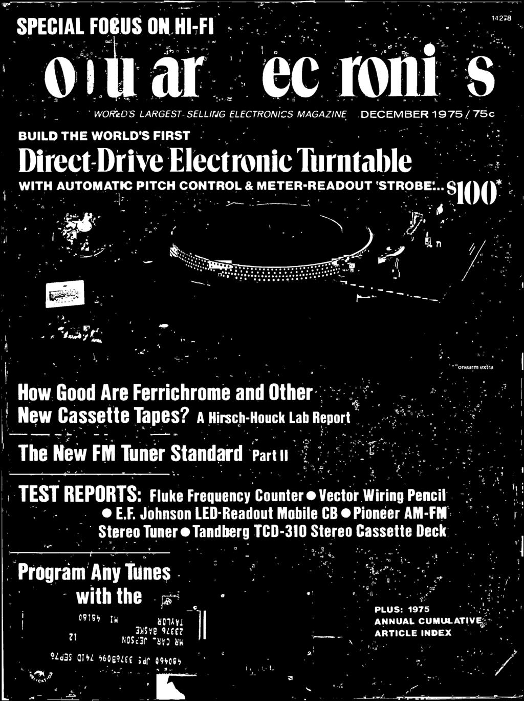 Build The Worlds First Direct Drive Electronic Turntable With Meters Scanners Circuit Breaker Finders Sperry Finder Wiring Pencil Ef