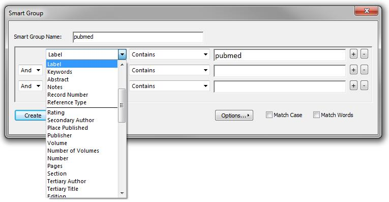 SMART GROUPS Right-hand click in sidebar and select create smart group A few uses document reference source (e.