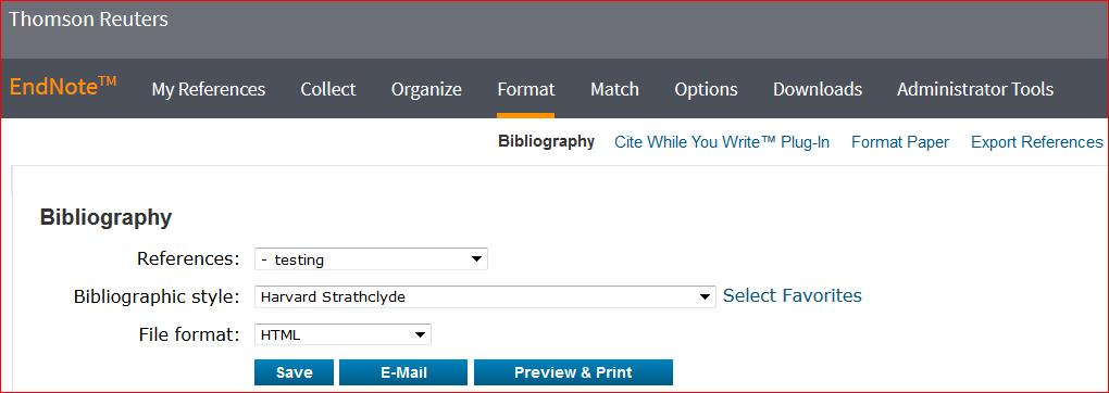 8. Creating a Bibliography 1. From the Format menu tab, click on Bibliography. 2.