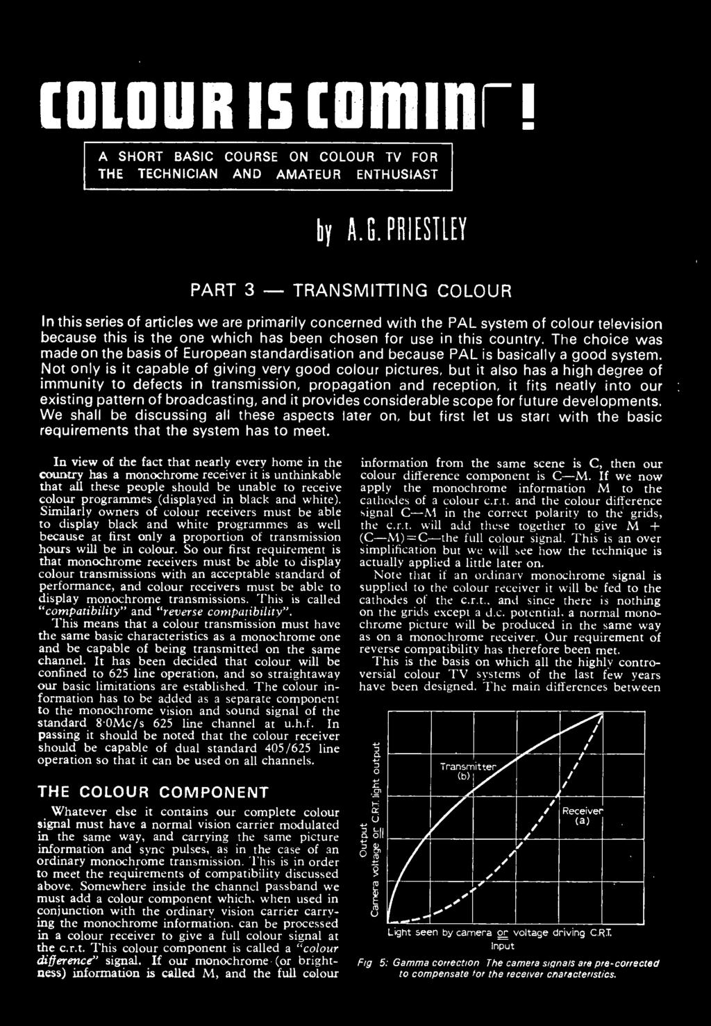 Television August Pdf Fm Transmitter Block Diagram 1 Chelmsford Amateur Radio Society Priestley Part 3 Transmitting Colour In This Series Of Articles We Are Primarily Concerned With