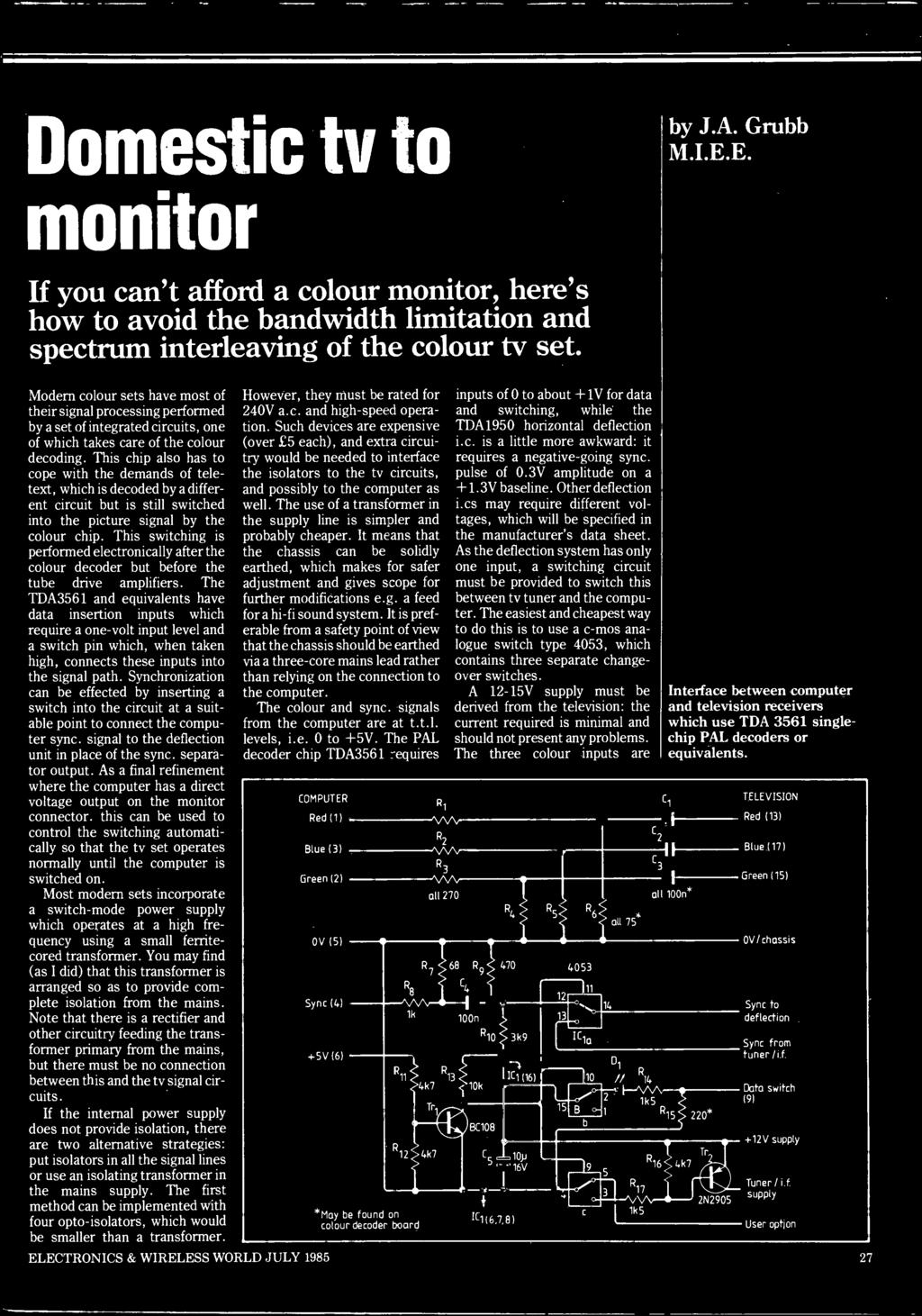 Lectronics For Oung People Enlarger Lamp Power Controller Pdf Amplifier The Circuit Uses A 14pin Package Lm380 As This Chip Also Has To Cope With Demands Of Teletext Which Is Decoded By