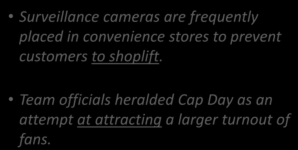 Common Mistake 5: Infinitive and Gerund Surveillance cameras are frequently placed in convenience stores to