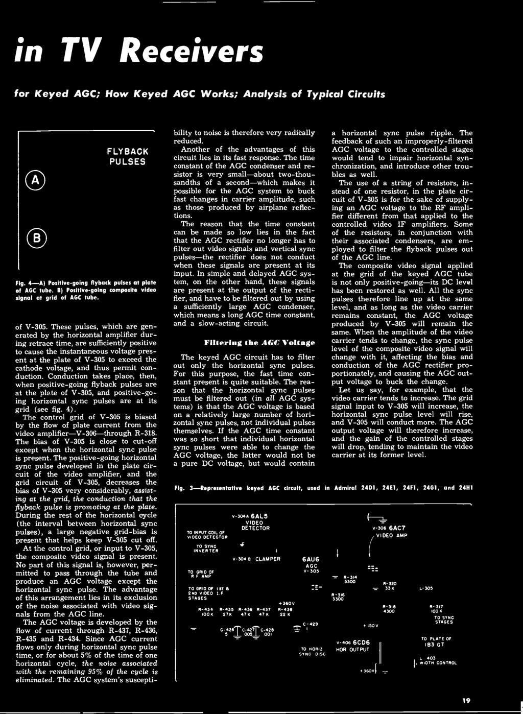 Radio Television Data Pdf Has Pulse Delay Suck Close Relay Circuit Controlcircuit In Tv Receivers For Keyed Agc How Works Analysis Of Typical Circuits
