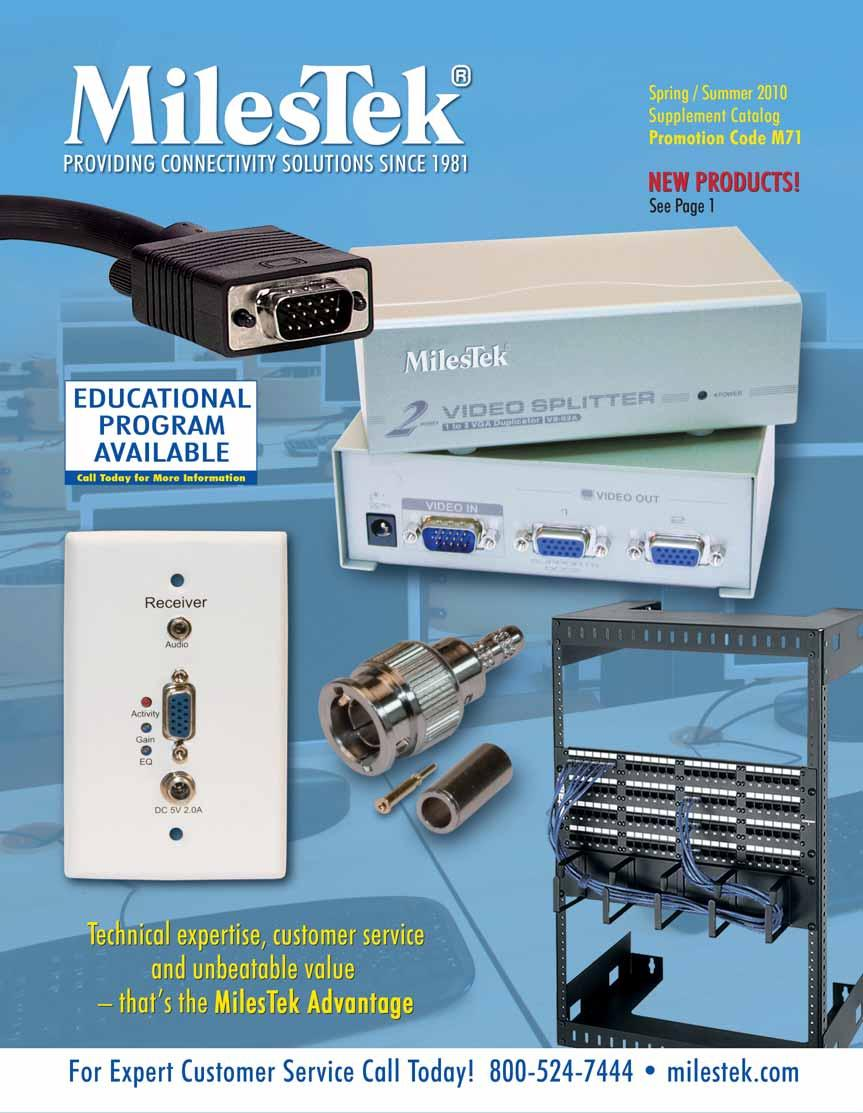 The Milestek Adva Tage Telco Ds3 Solutions Bnc Connectors And Catv Wiring Data Basement Transcription