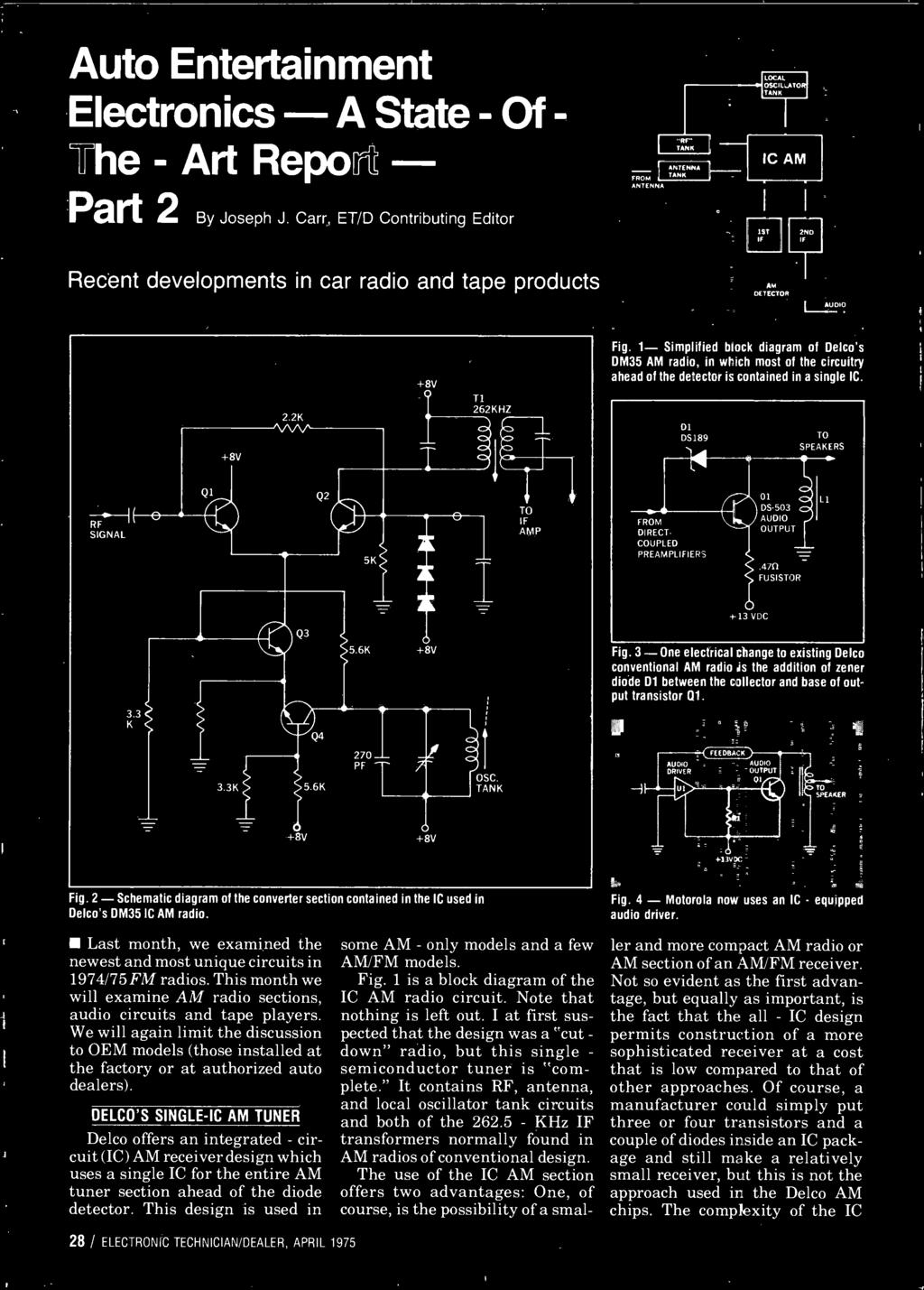 Technician Dealer Action Builds Antenna Business Regulation Of The Asv Pt 80 Wiring Diagram 3 One Electrical Change To Existing Delco Conventional Am Radio Is Addition Zener