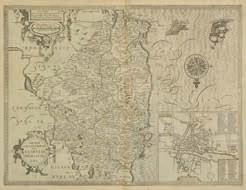 Chiswell, circa 1676, uncoloured engraved map, inset town plan of Hereford, some staining, 385 x 510mm, English text on verso, together with, Rutlandshire with Oukham and Stanford her bordering