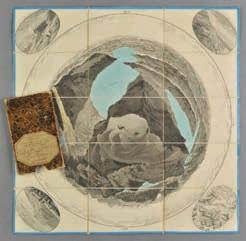 .., published Lucerne, 1820, engraved circular map with contemporary hand colouring, sectionalised and laid on linen, an oval vignette view to each corner, map edged in later blue tape, 530 x 530mm,