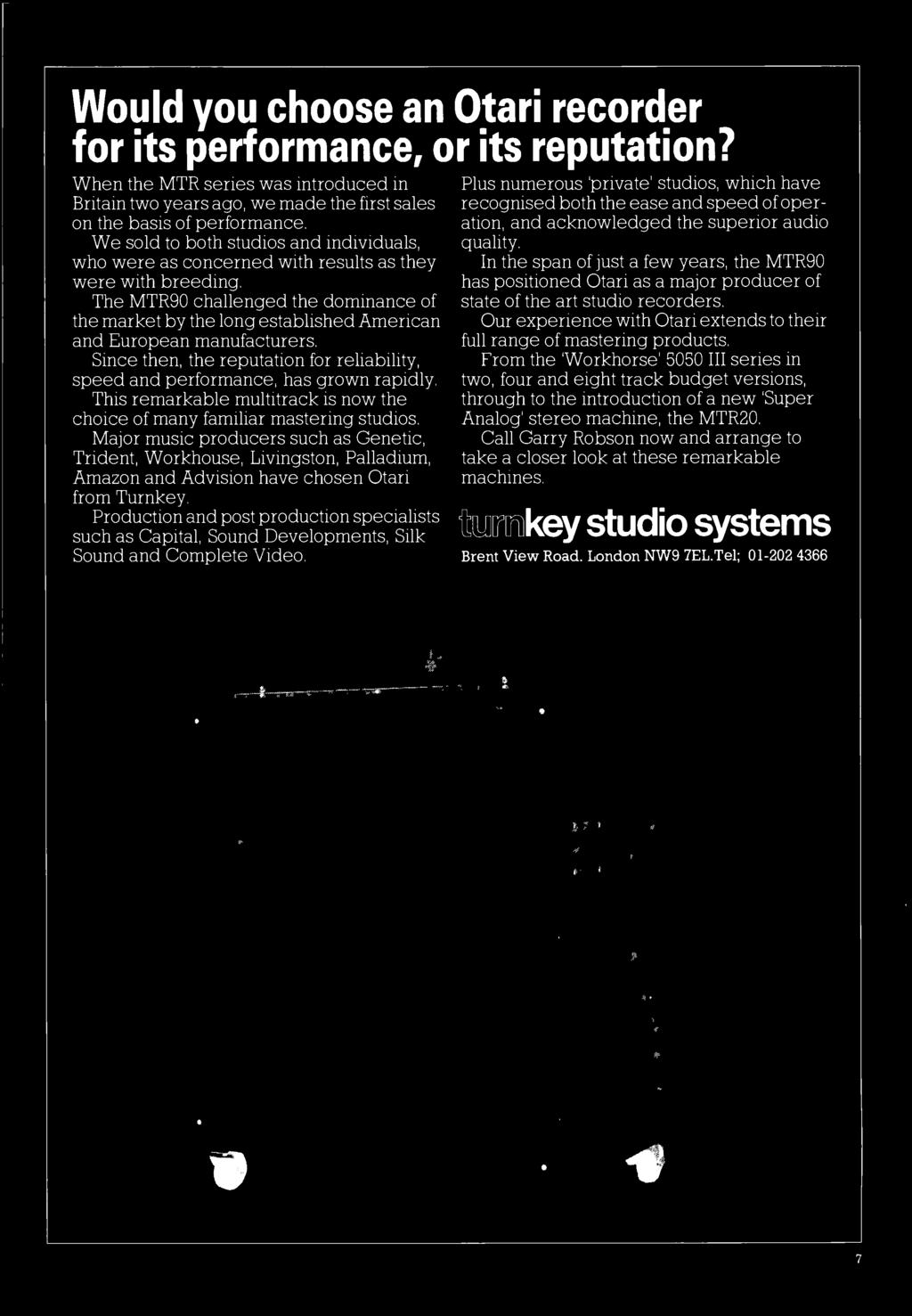 Studio And Br Rvie W Pdf 5 Channels 2 Octave Graphic Equaliser By 4558 The Mtr90 Challenged Dominance Of Market Long Established American European Manufacturers